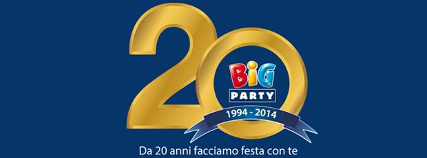 Big Party festeggia i 20 anni d'attività con un nuovo logo