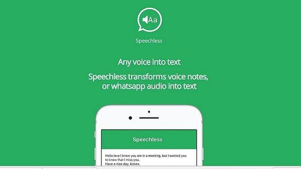 Speechless, l'app che trasforma i messaggi vocali di Whatsapp in scritti